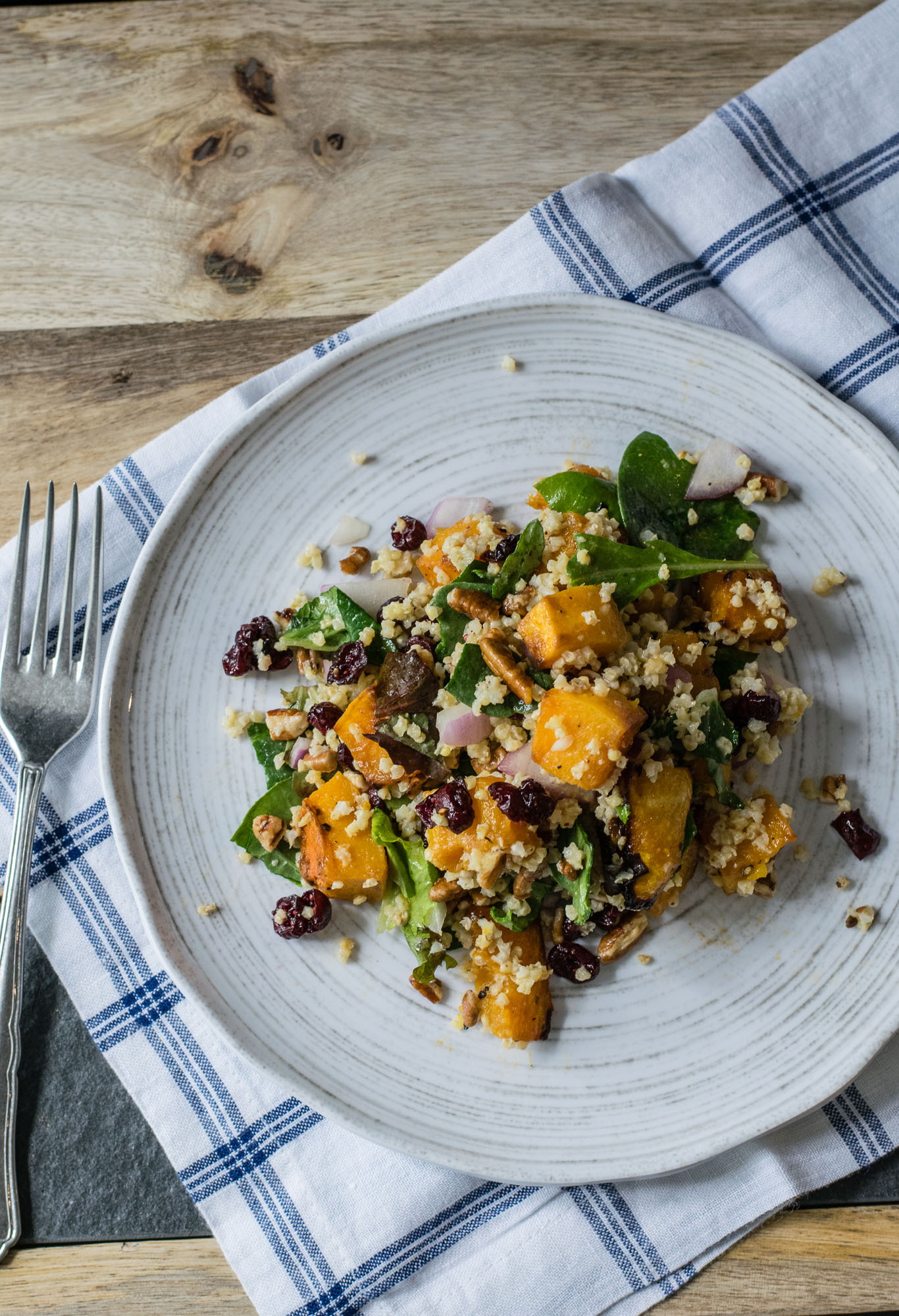 Roasted Butternut Squash and Millet Salad