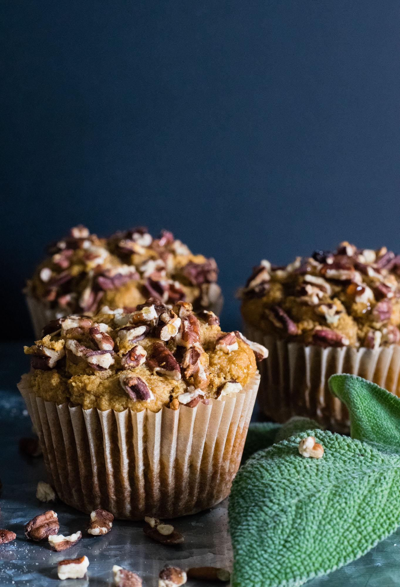 Honey Roasted Sweet Potato Muffins with Sage and Cayenne